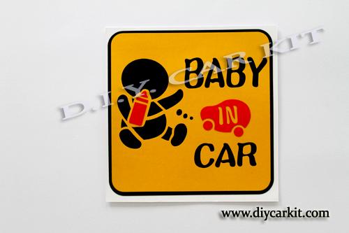 สติ๊กเกอร์สะท้อนแสง Baby in Car