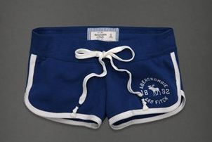 กางเกงขาสั้น กางเกงฟิตเนส กางเกงโยคะ Abercrombie น้ำเงิน กรมท่า ขอบขาว no 93812_3