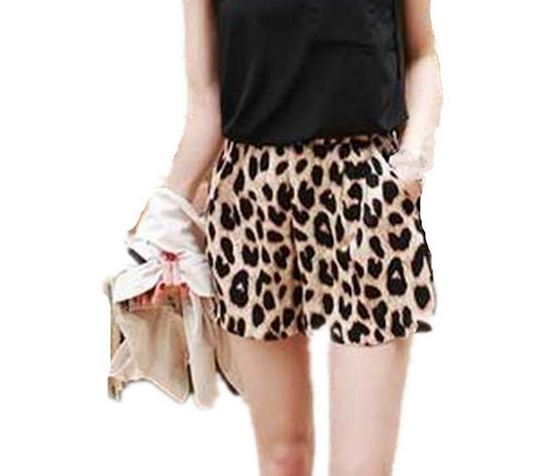กางเกงขาสั้น กางเกงผู้หญิง ขาสั้น แฟชั่น ลายเสือ สีน้ำตาล สไตล์ สาวเปรี้ยว กางเกงใส่เที่ยว ใส่อยู่บ้าน เก๋ ๆ ใส่สบาย 999229