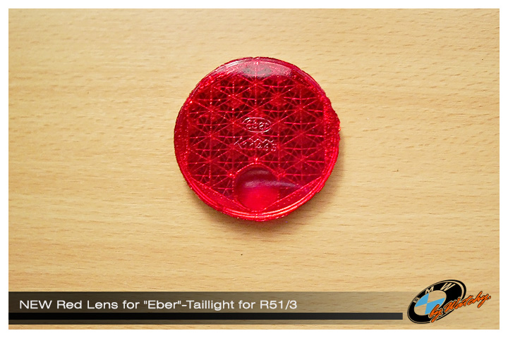 """เลนส์ไฟท้าย สำหรับไฟท้าย """"EBER"""" เป็นของใหม่ สำหรับ R51/3"""