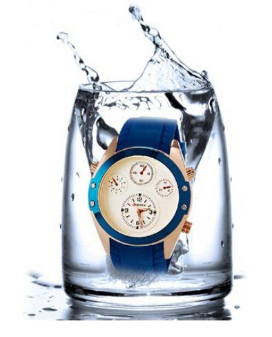 นาฬิกาข้อมือ ผู้หญิง ผู้ชาย ใส่ได้ แนว Sport กันน้ำได้ ดีไซน์ สายยางอย่างดี สีสัน สดใส สีน้ำเงิน นาฬิกา วัยรุ่น ราคาถูก 180396