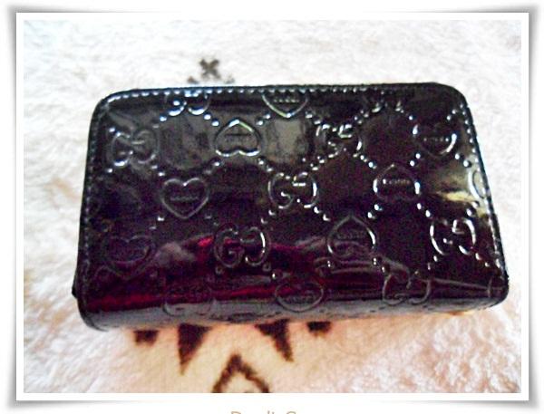 กระเป๋าสตางค์แฟชั่น กระเป๋าสตางค์ผู้หญิง หนังแก้ว สีดำ สุดหรู ลดราคา พิเศษ เคลียร์สต๊อก cl001
