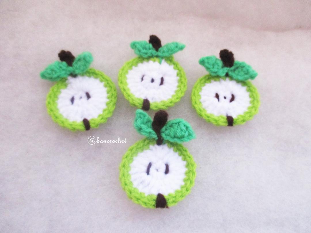 แตงโมถักโครเชต์ apple fruit crochet