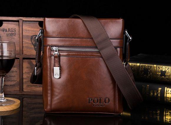 กระเป๋าสะพายข้าง ผู้ชาย polo แนวตั้ง หนังมัน กระเป๋าสะพาย แบบไม่มีฝาปิด ดีไซน์ ซิปรูด ขนาดกลาง ดีไซน์ เรียบหรู สำหรับใส่ กระเป๋าสตางค์ 353390_1