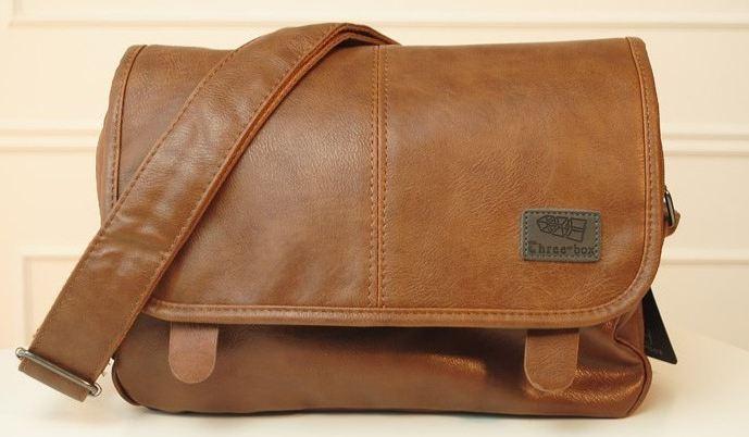 กระเป๋าสะพายข้าง ขนาดกลาง ใส่ Ipad ได้ สีน้ำตาล สีโกโก้ และ สีดำ กระเป๋าหนัง ดีไซน์ วินเทจ ขนาดกำลังดี กระเป๋าผู้ชาย ลดราคา no 316478