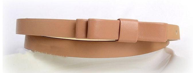 เข็มขัดหนัง Pu เข็มขัดผู้หญิง เส้นเล็ก ออกแบบ เป็น โบว์ สีน้ำตาลอ่อน ใส่กับ กางเกงขาสั้น หรือ เดรส เก๋ ๆ แบบสวย ราคาถูก 445405