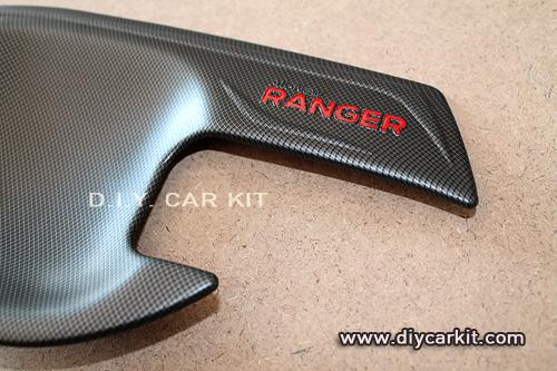 ถ้วยรองมือเปิดประตู เคฟล่าห์ดำNew Ranger 4ประตู
