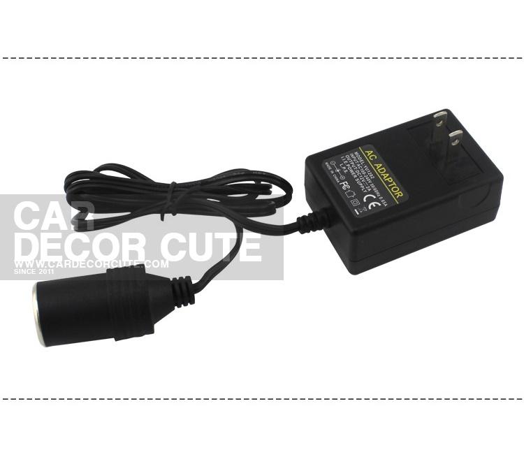 DC Power Adapter AC220V to DC12V - อแดปเตอร์แปลงไฟกำลังสูง 5A จากที่จุดบุหรี่ในรถยนต์เป็นไฟบ้าน