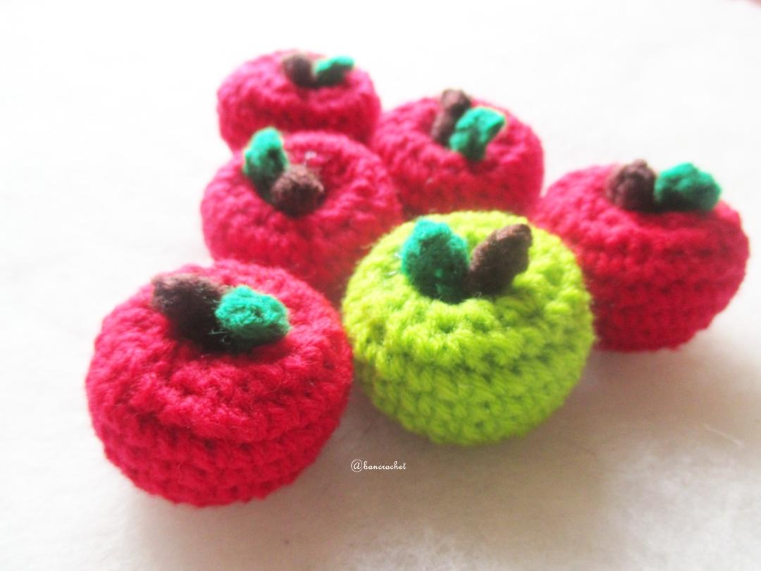 แอปเปิ้ลถักโครเชต์ apple fruit crochet