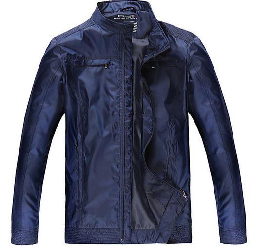 เสื้อ แจ็คเก็ต ผู้ชายแขนยาว เสื้อกันลม กันหนาว สีน้ำเงิน ผ้าไนลอน ขึ้นเงา สวยเท่ เนื้อผ้าเบา ใส่สบาย ได้ทุกโอกาส กันแดด กันร้อน Jacket ผู้ชายสวย ๆ 675625