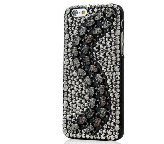 เคส iphone 6 เคส Diy แนว Hard core คริสตัล หัวกะโหลก สีดำ รูปตัว S เคส แบบเท่ ๆ เด็กแนว สไตล์ ร็อคเกอร์ เคสหายาก 403938_6