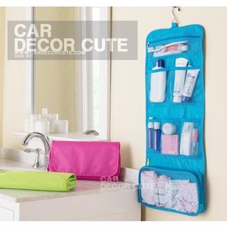 Travel Storage bag Set - กระเป๋าพกพาแบบแขวน จัดระเบียบชุดอาบน้ำ สะดวกต่อการใช้งานพื้นที่แคบ