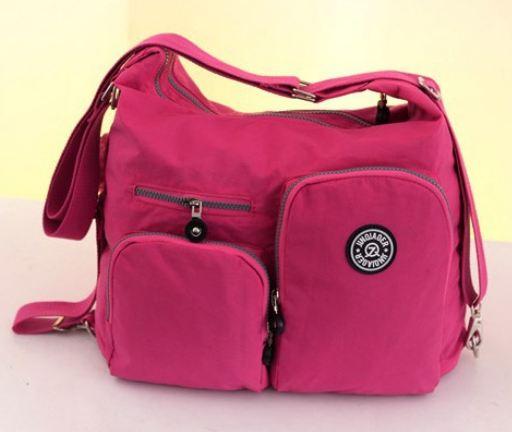 กระเป๋าสะพายข้างผู้หญิง กระเป๋าผ้าไนลอน กันน้ำ อย่างดี ดีไซน์สวย มีหลายสี กระเป๋าใส่ Ipad ได้ สีฟ้า ชมพู ม่วง แดง เขียว สวยเก๋ ค่ะ 431424