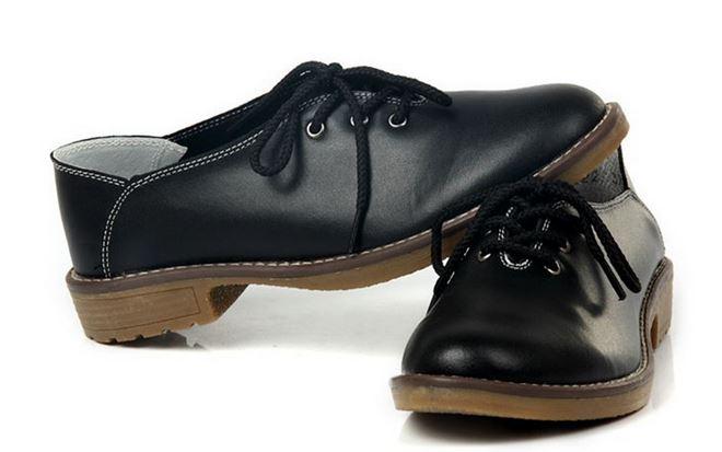 รองเท้าหุ้มส้น ผู้หญิง รองเท้าหนังแท้ สไตล์ oxford รองเท้าผู้หญิง หุ้มส้น สีดำ หนังแท้ ยืดหยุ่นสูง ใส่สบาย เสริมส้น เล็กน้อย แบบเท่ ๆ 909981