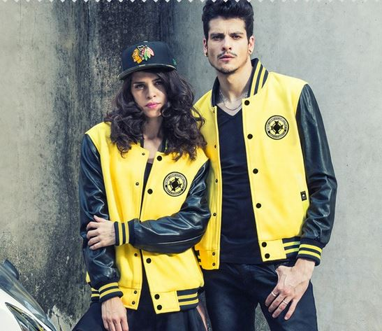 เสื้อคลุมผู้ชายแขนยาว ผู้หญิง ใส่ได้ เสื้อแจ็คเก็ต ดีไซน์ แขนเป็นหนัง สีดำ เสื้อ jacket สีเหลืองมะนาว ใส่เท่ ๆ ใส่เที่ยว ใส่ขี่มอเตอร์ไซค์ 585852_4