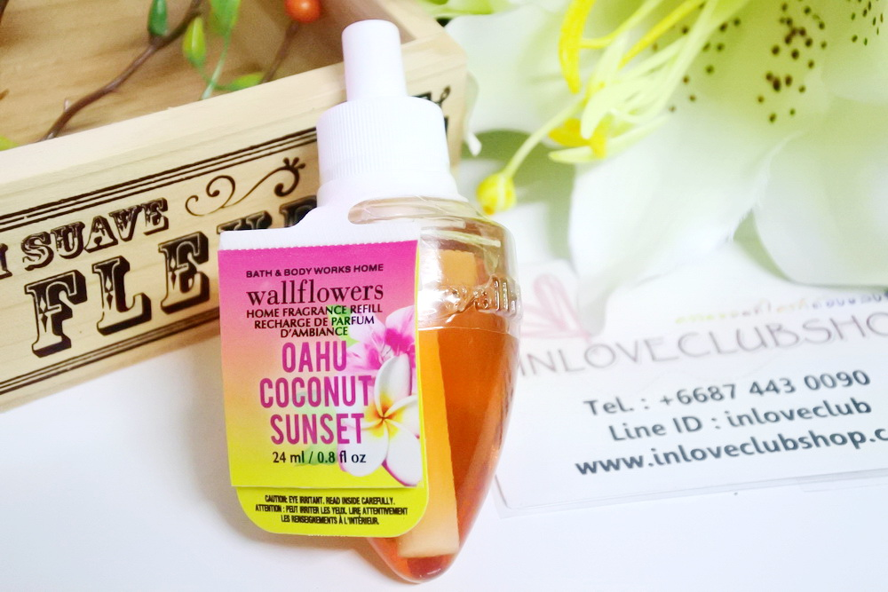 Bath & Body Works / Wallflowers Fragrance Refill 24 ml. (Oahu Coconut Sunset)
