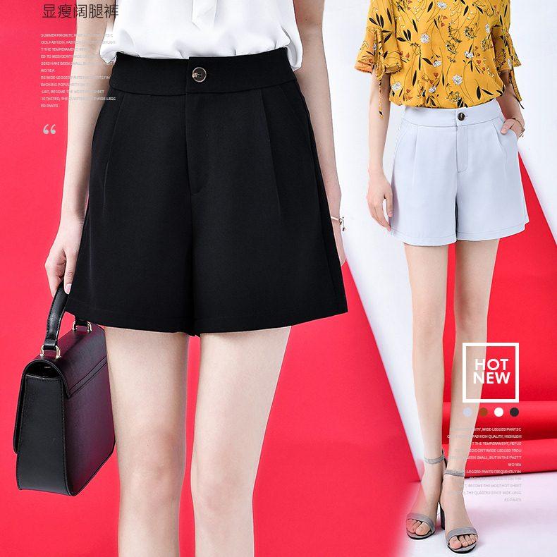 SALE!! Shorts490 กางเกงแฟชั่นเกาหลี กางเกงขาสั้นซิปหน้ากระเป๋าข้าง ผ้าคอตตอนผสมลินินเนื้อดีมีน้ำหนักทิ้งตัวไม่ยับง่าย งานสวยผ้านุ่มใส่สบายแมทช์กับเสื้อได้หลายแบบ มี 2 สี ดำ, เทาอ่อน