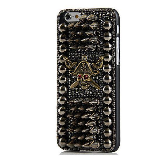 เคส iphone 6 เคส Diy แนว Hard core ฮาร์ดร็อค ติดหนาม ติดหมุด เคส เท่ ๆ คริสตัล ลายหัวกะโหลก สีทอง ไม่ซ้ำใคร แบบเท่สุด ๆ 403938_2