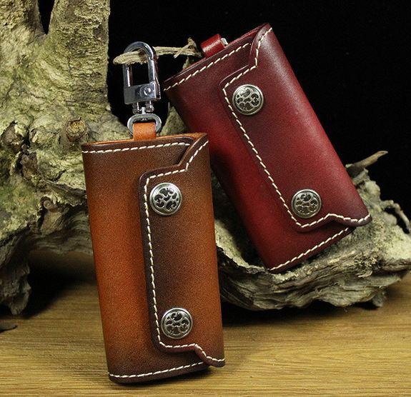 กระเป๋าใส่พวงกุญแจ หนังวัวแท้ ดีไซน์ สไตล์ คาวบอย เท่ ๆ แบบคลาสสิค กระเป๋าใส่ รีโมท รถยนต์ กุญแจบ้าน กุญแจรถ ของขวัญให้แฟนเก๋ ๆ 226761