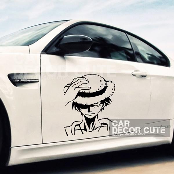 ONE PIECE- Luffy สติกเกอร์ตกแต่งรถยนต์ ลายวันพีช