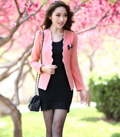 เสื้อคลุม เสื้อ Jacket เสื้อสูท ผู้หญิง สีชมพู โอรส หวาน ๆ เสื้อสูทผู้หญิง ใส่ออกงาน ใส่ทำงาน ติดต่อ ดูดี มีระดับ เสื้อนอก ใส่คลุมชุดเดรส 584549_1