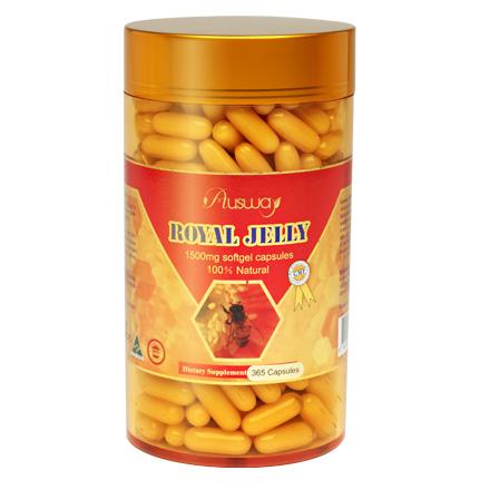Ausway Royal Jelly 1500 mg ออสเวย์ รอยัล เจลลี แบ่งขาย เซ็ต1เดือน 30 เม็ด 350 บาท รอยัลเจลลี่ราคาถูก