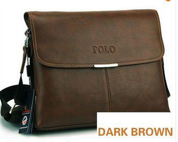 กระเป๋าสะพายข้าง ผู้ชาย หนังแท้ polo กระเป๋าใส่เอกสารแนวนอน สีดำ สีน้ำตาล และ น้ำตาลเข้ม no 73406