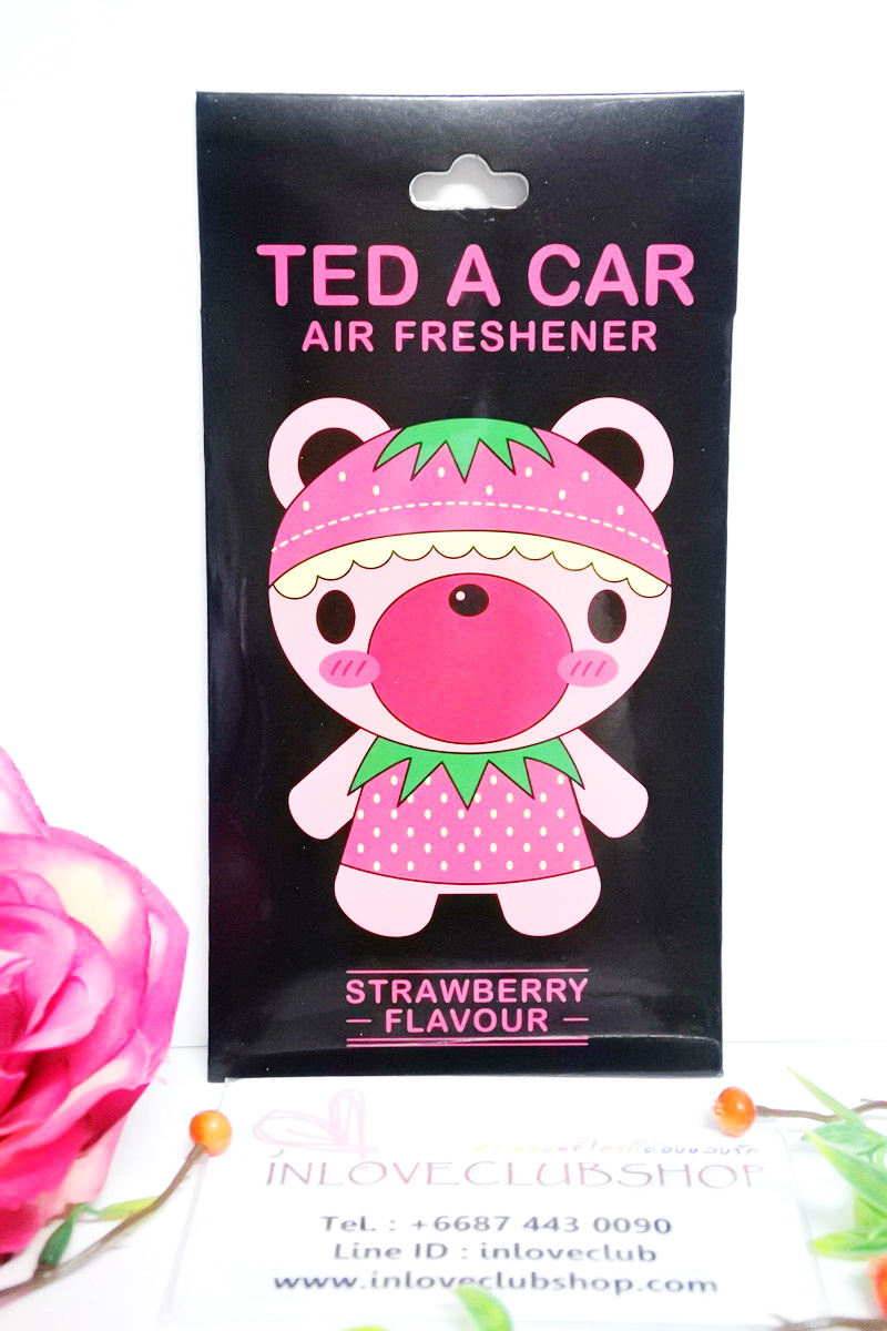 Ted A Car / Air Freshener (Strawberry)