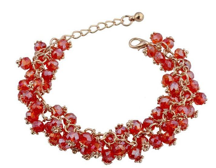 สร้อยข้อมือ คริสตัล ออสเตเรีย สีแดง บริสุทธิ์ สวยหรู ของขวัญ ให้แฟน ลดราคา no 77336_1