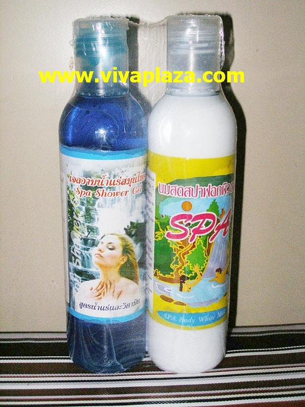 อาบน้ำแร่แช่น้ำนมด้วย เจลน้ำนม - น้ำแร่ทำความสะอาดผิว เซตละ 160 บาทค่า