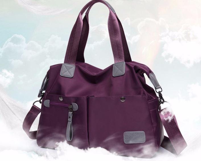กระเป๋าสะพายข้างผู้หญิง แบบ สปอร์ต กระเป๋าผ้าไนลอน กันน้ำ แบบเงา อย่างดี กระเป๋าถือ กันน้ำ แบบสวย มีดีไซน์ สะพายทำงาน เที่ยว ได้ทุกงาน 107619