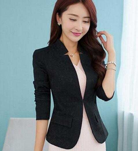 เสื้อสูทผู้หญิง แขนยาว ปักลายดอกไม้ ไทย ๆ สีดำ เสื้อใส่ออกงาน ทางการ เสื้อคลุม แบบสูท สีดำ ดีไซน์ งานปัก มีผ้าซับใน สวยหรู 548848_1
