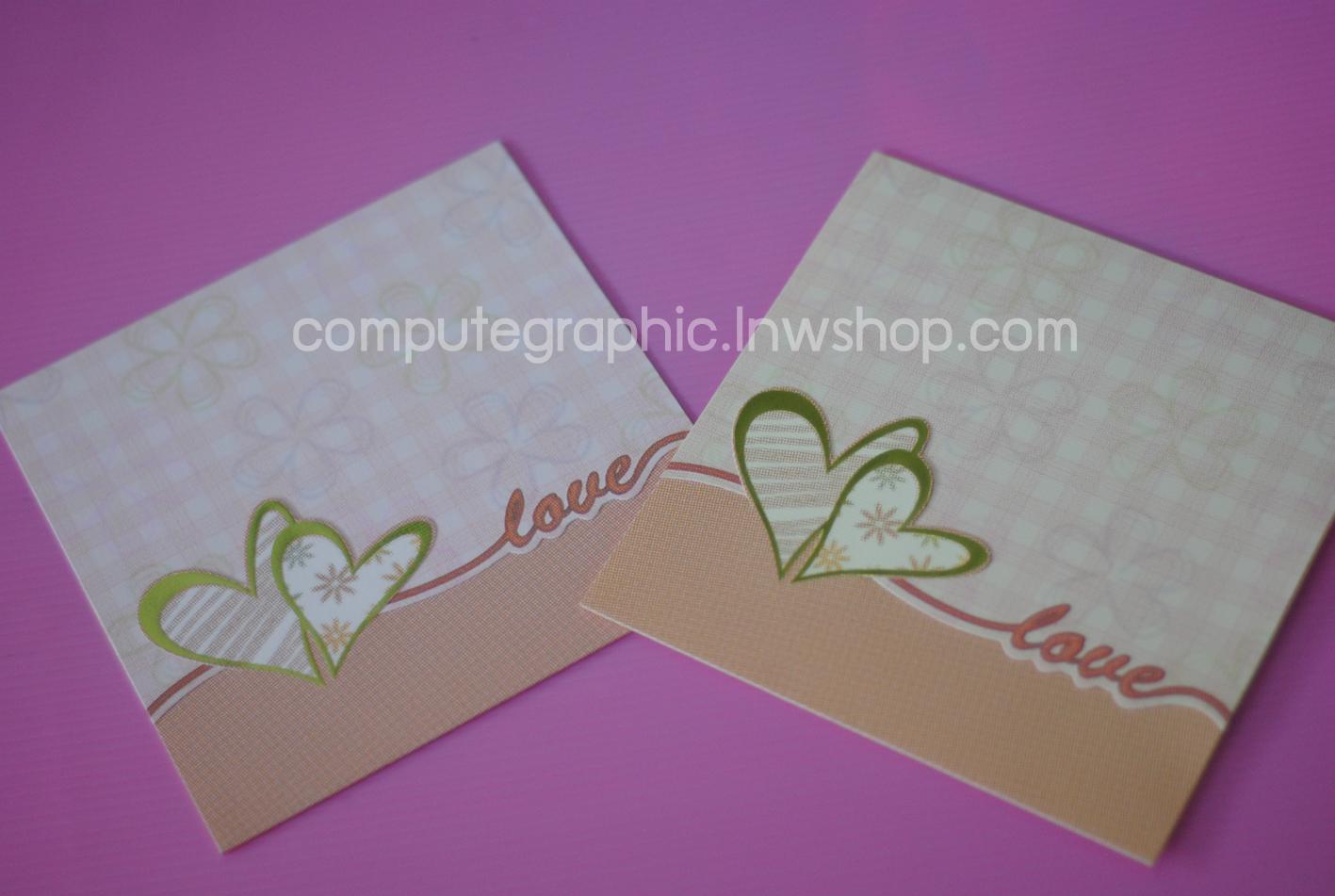 CG015 การ์ดแต่งงานสี่เหลี่ยมพับ (มี 2สี ให้เลือก)