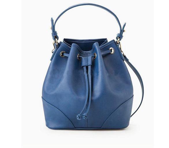 กระเป๋าสะพายข้างผู้หญิง กระเป๋าสะพาย หนัง pu กันน้ำได้ กระเป๋าสะพาย ทรง Busket สุดฮิต ดีไซน์ จับจีบ สีน้ำเงิน น้ำตาล เบจ แดง 813557
