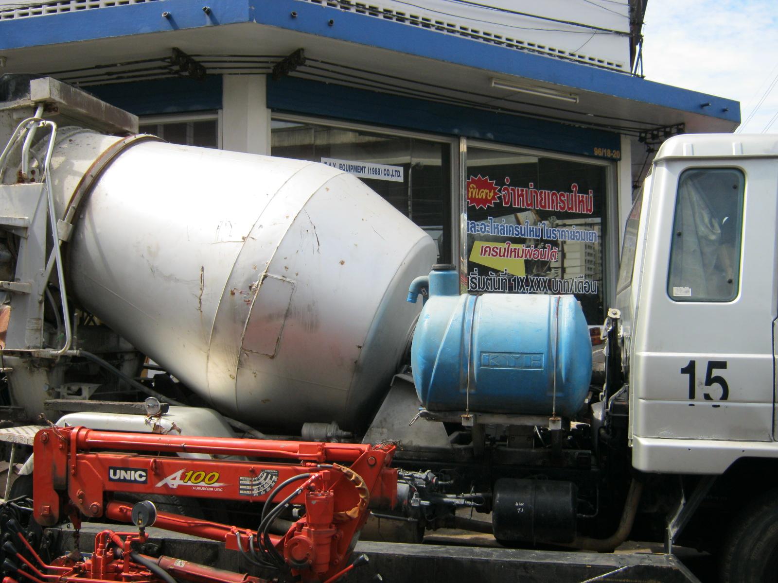 รถโม่ผสมปูนคอนกรีตมือสอง NISSAN mixer truck