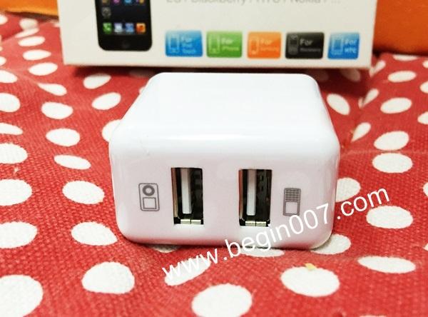ปลั๊กชาร์จ USB Power Adapter เพิ่มช่องชาร์จ 2 ช่อง