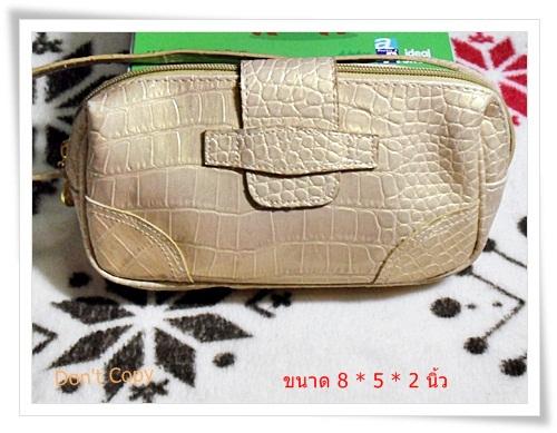 Used กระเป๋าถือ หนังสีทอง สำหรับออกงาน