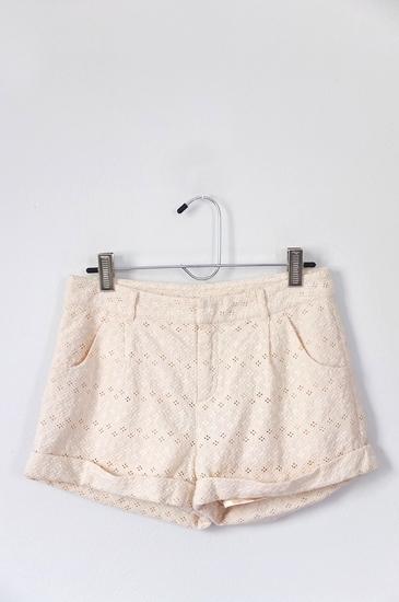 กางเกงขาสั้น LOWRYS FARM สีครีม ไซส์ L