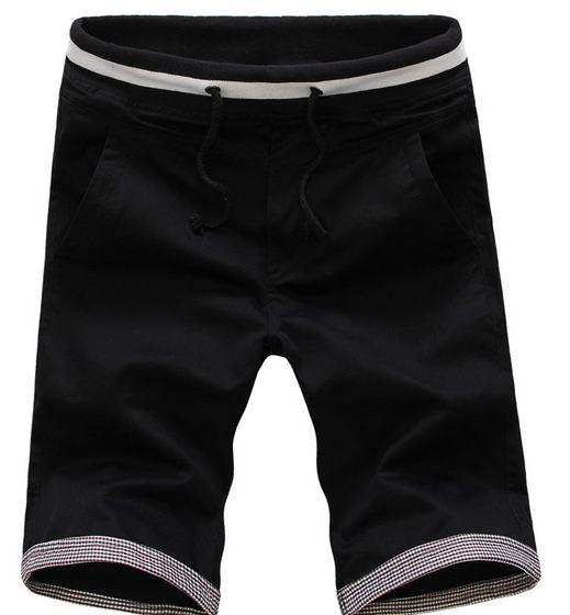 กางเกงขาสั้นผู้ชาย กางเกงขาสามส่วน กางเกงแฟชั่น สีดำ เท่ ๆ เอวยางยืด แบบใหญ่ ใส่สบาย ใส่เที่ยว ใส่อยู่บ้าน กางเกงวัยรุ่น ผ้า Cotton 641470_1
