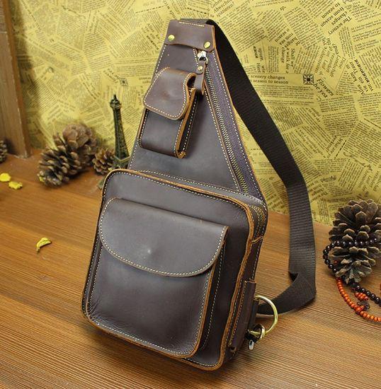 กระเป๋าคาดอก ผู้ชาย หนังวัวแท้ งาน วินเทจ ใบใหญ่ กระเป๋าสะพาย คาดหน้าอก หนังแท้ สวย ๆ ใช้งาน แข็งแรง ทนทาน 954784