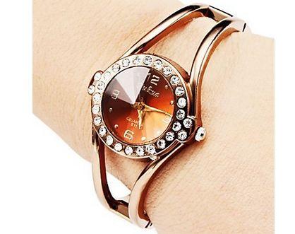 นาฬิกาข้อมือ ผู้หญิง แบบ กำไลข้อมือ หน้าปัดกลม ฝังเพชร CZ AAA รอบเรือน นาฬิกา แบบผู้ใหญ่ ใส่ออกงาน ดีไซน์ ขากำไลแยก 401876_1
