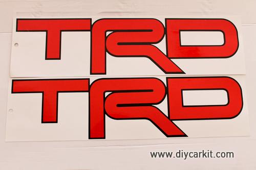 สติ๊กเกอร์ TRD สีแดง Vigo Champ
