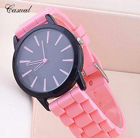 นาฬิกาข้อมือ สายซิลิโคน อย่างดี สีแสบสัน หน้าปัดดำ สะท้อนแสง ดีไซน์ คลาสสิค เลือกสี ได้เข้ากับ ชุดที่ต้องการ นาฬิกาข้อมือผูหญิง และ ชาย 893828