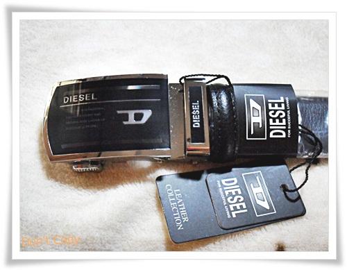 เข็มขัดทำงาน หนังแท้ Diesel P305