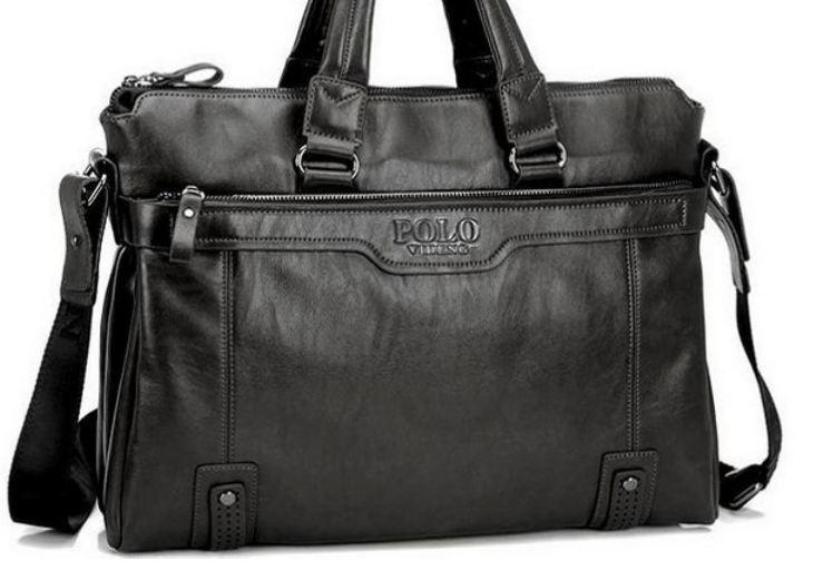กระเป๋าใส่ Notebook Polo หนังแท้ กระเป๋าสะพายข้าง ใส่เอกสาร นิตรสารเล่มใหญ่ กระเป๋าถือใส่เอกสาร สำหรับผู้บริหาร สีดำ no 996987