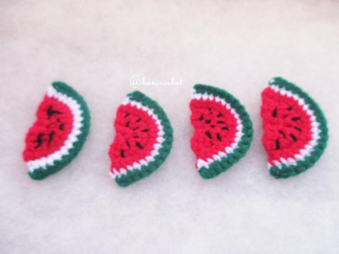 แตงโมถักโครเชต์ watermelon fruit crochet