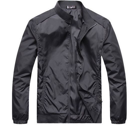เสื้อ แจ็คเก็ต ผู้ชายแขนยาว เสื้อกันลม กันหนาว กันน้ำ ผ้า Nylon ใส่สบาย อุ่น เสื้อขี่มอเตอร์ไซค์ มีกระเป๋า 2 ข้าง สีเทา 217460_1