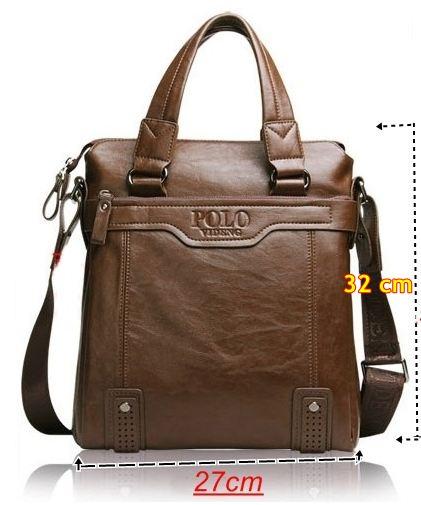 กระเป๋าสะพายข้าง ผู้ชาย Polo หนังแท้ ลง Wax แบบไม่มีฝาปิด มีหูหิ้ว ขนาดใหญ่ 27x32 cm สีพื้น ดีไซน์ เรียบหรู สีน้ำตาล สีดำ 28257_8