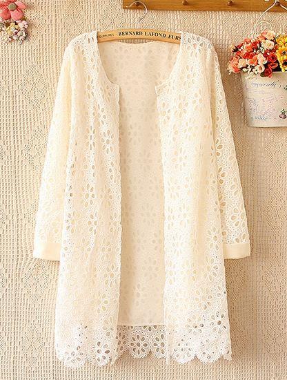 เสื้อคลุม เสื้อลูกไม้ ด้านในสีขาว ใส่ออกงานบุญ งานบวช ลูกไม้ สีขาว เสื้อคลุม แขนยาว แบบผู้ใหญ่ ดูดี มีระดับ ใส่ออกงาน เสื้อคลุมแขนยาว 444135_2