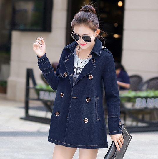 เสื้อเจ็คเก็ตยีนส์ ตัวยาว แขนยาว แบบ เสื้อโค้ท สามารถใส่เป็น มินิเดรส ได้ แบบสวย ปรับเปลี่ยนได้ 2 สไตล์ Jacket เท่ ๆ สำหรับผู้หญิง ไฮโซ 679467
